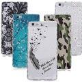 Para huawei p8 lite case transparente flor impresso colorido suave casos de telefone tpu para huawei p8 lite case de silicone coque cobrir