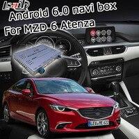 אנדרואיד 6.0 תיבת ניווט GPS למאזדה 6 החדש Atenze וידאו מראה תיבת ממשק קישור youtube google play waze iGO yandex navi