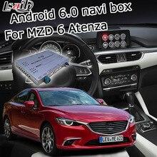 Android 6.0 caixa de navegação GPS para novo Mazda 6 Atenze vídeo interface de caixa de espelho link youtube google play waze yandex iGO navi