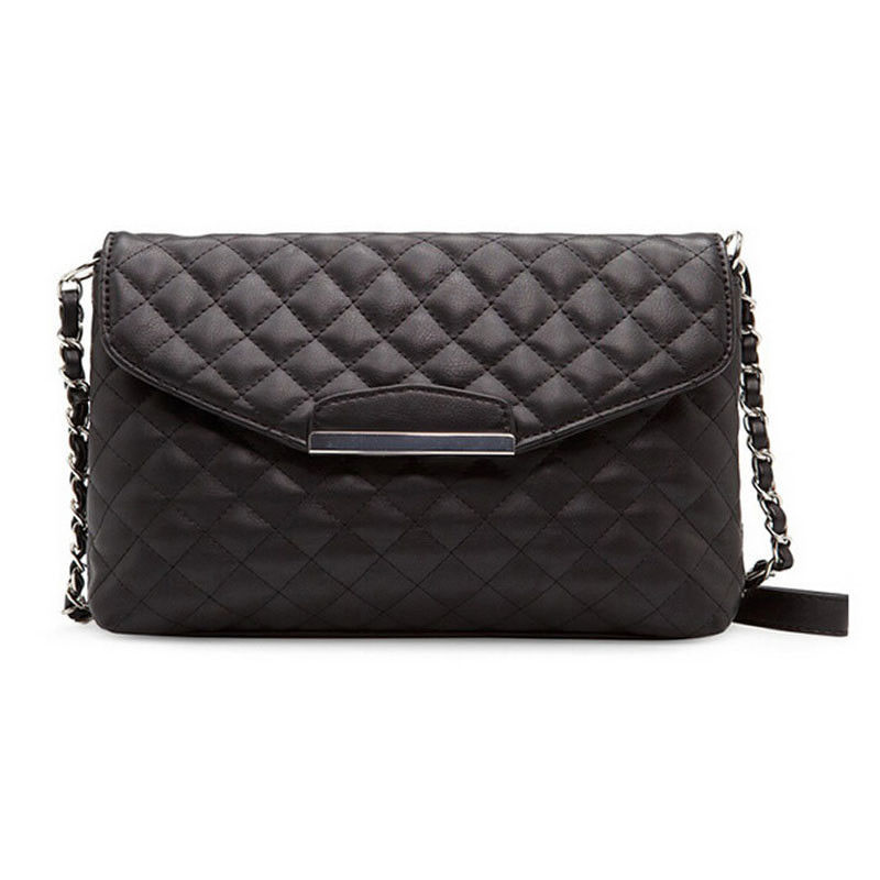 Designer Womens Shoulder Bag PU Leather Small Plaid Envelope Clutch Handbags 2017 Brand CC Bag Ladies Chain Messenger Hand Bag