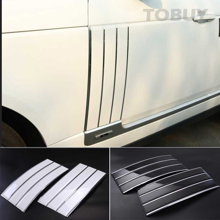 TTCR-II ABS Side Air Vents Kit Mesh Vent Grille Grill Fender Trims Suitable FOR Land Rover Range Rover Vogue 2013-2016 stickers