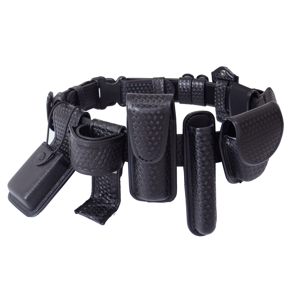 Police Duty Belt Kit Multifunctional Duty Belt Rig Kit Tactical Military Training Polices Guard Duty Belt Kit includes Pouches