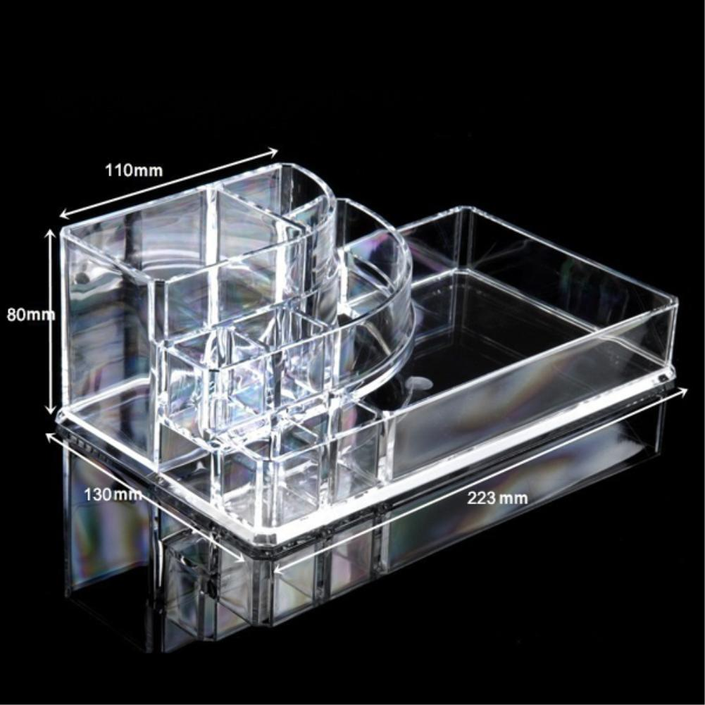 Cheap 11 Grids 4 Layer Drawers Make up Organizer Storage Holder jewelry Box Skin Care Rack Clear Acrylic Sundry Cabinet EQC372