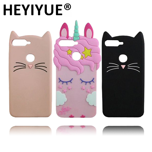 best service 1560d b95e6 US $3.37 |Aliexpress.com : Buy Unicorn Case For Huawei Honor 7A Pro  Silicone Cartoon Cat 3D Phone Cases Cover For Huawei Y6 2018 from Reliable  Fitted ...