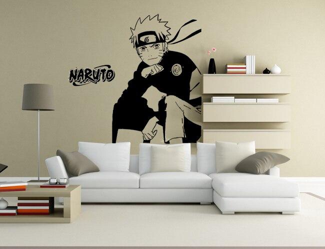 Free Shipping Diy Vinyl Naruto Wallpaper Dormitory Bed