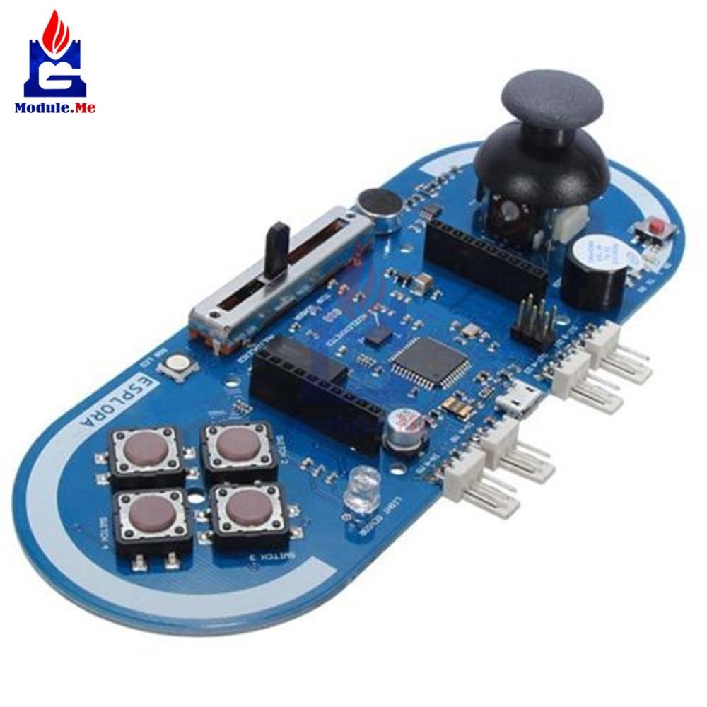 Atmega32u4 Esplora Joystick Game Program Module For Arduino IDE Oscillator Microcontroller Temperature Light Sensor Board CableAtmega32u4 Esplora Joystick Game Program Module For Arduino IDE Oscillator Microcontroller Temperature Light Sensor Board Cable