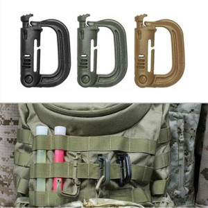 Shackle Carabiner Army D-ring Clip Molle Webbing Plasctic Backpack Buckle Snap Lock Grimlock Camp Hike Mountain climb Outdoor(China)