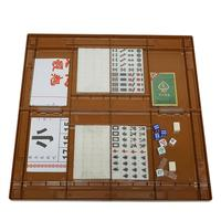 Portable Chinese MahJong Rare Game Set Retro Mah Jong + Custom Fit Box Entertainment Fun Family Board Games