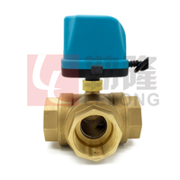 Normally closed type Electric Motorized Ball Valve 2way 3way Thread DN15 /20/25/32/40/50 for water gas oil