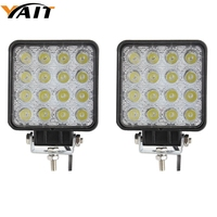 2pcs 4 Inch Square 48w Led Work Light Off Road Flood Lights Truck Lights 4x4 Off