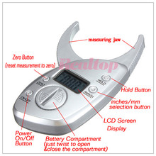 2016 Hot ! Nls Skin Analyzer Body Fat Caliper Tester Analyzer Measure Charts Fitness Keep Health Slim