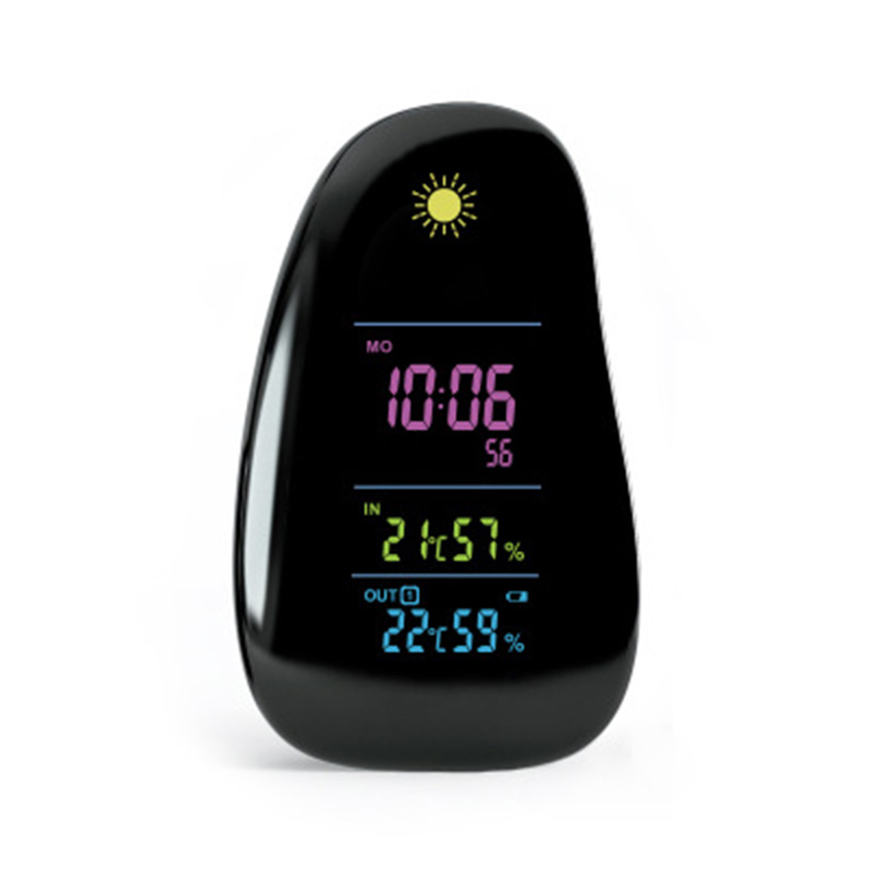 Smart Weather Station In/Outdoor Digital Cobblestone Household Thermometer Hygrometer Alarm Clock Remote Sensor Weather Forecast smart multi functional weather station color led in outdoor electronic thermometer hygrometer home wireless comma weather clock