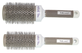 6 Sizes (19 MM 25 MM 32 MM 45MM 53 MM 65 MM )Durable Ceramic Iron Round Comb Hair Dressing Brush Salon Styling Barrel 1