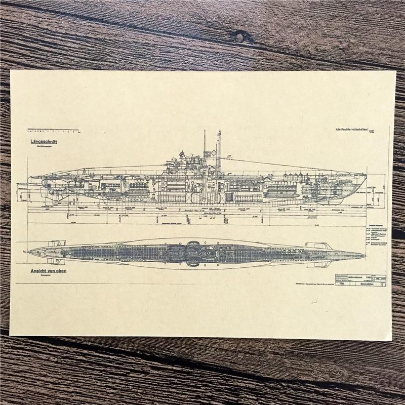 "Direct Selling RZJ 011 Home Decor Kraft Paper ""Ship Plan"