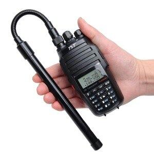 Image 3 - ABBREE AR 148 معقوفة الجيش التكتيكية VHF UHF المزدوج الفرقة SMA M الذكور هوائي forHandheld GPS غارمين ألفا 100 50 استرو 430 320 900