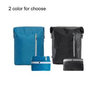 Image 5 - Youpin 90FUN Leichte Rucksack Faltbare Tasche Wasserdicht Daypack für Mann & Frau, 20L, Blau/Schwarz H30