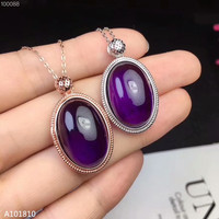 KJJEAXCMY boutique jewels 925 pure silver inlaid Natural Amethyst Pendant