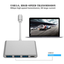 DOITOP 3.0 HUB + USB-C Charging Port HUB Adapter Cable For Macbook Digital Camera HDTV Projector 5Gbps UBS 3.1 Type-C to 3 USB