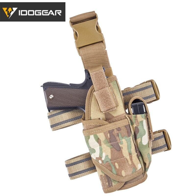 IDOGEAR Drop Leg étui pistolet cuisse étui tactique universel droit Airsoft tactique armée pistolet pistolet cuisse étui poche 3522