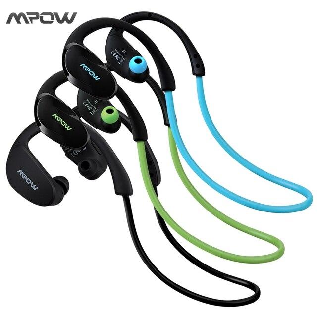 Mpow MBH6 Cheetah 4.1 Bluetooth Headset Headphones Wireless Headphone Microphone AptX Sport Earphone for iPhone Android Phone