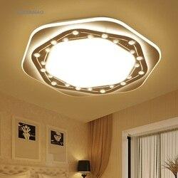 Ultra cienkie doprowadziły lampy sufitowe nowoczesne prosta salon świeci ciepły sypialnia lampa studyjna w kształcie lampy sufitowe AC110-240V
