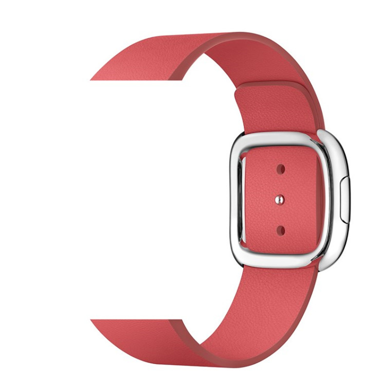 Image 4 - Leather Loop Strap For apple watch band 5 4 44/40mm modern style Bracelet wrist band accessories For iWatch series 3/2/1 42/38mmWatchbands   -