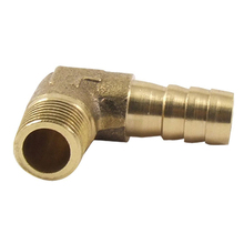 8mm Hose x 3/8 Male Thread 90 Degree Brass Elbow Barb Coupler Connector