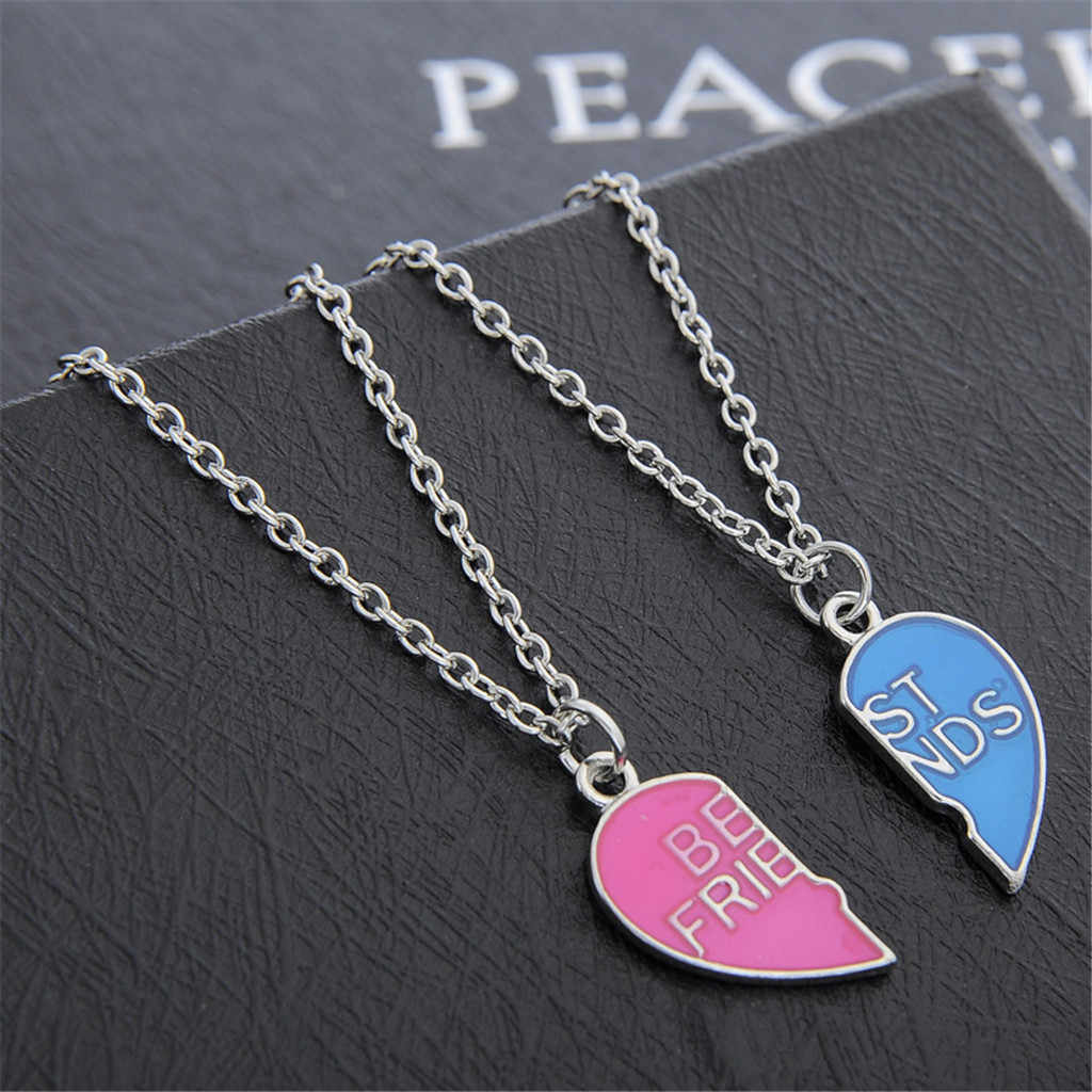 Stylish Necklace Women Kolye BFF Best Friends Necklace Pendants Gothic Lady Jewelry Choker Collares Collares De Moda 2019 L0515