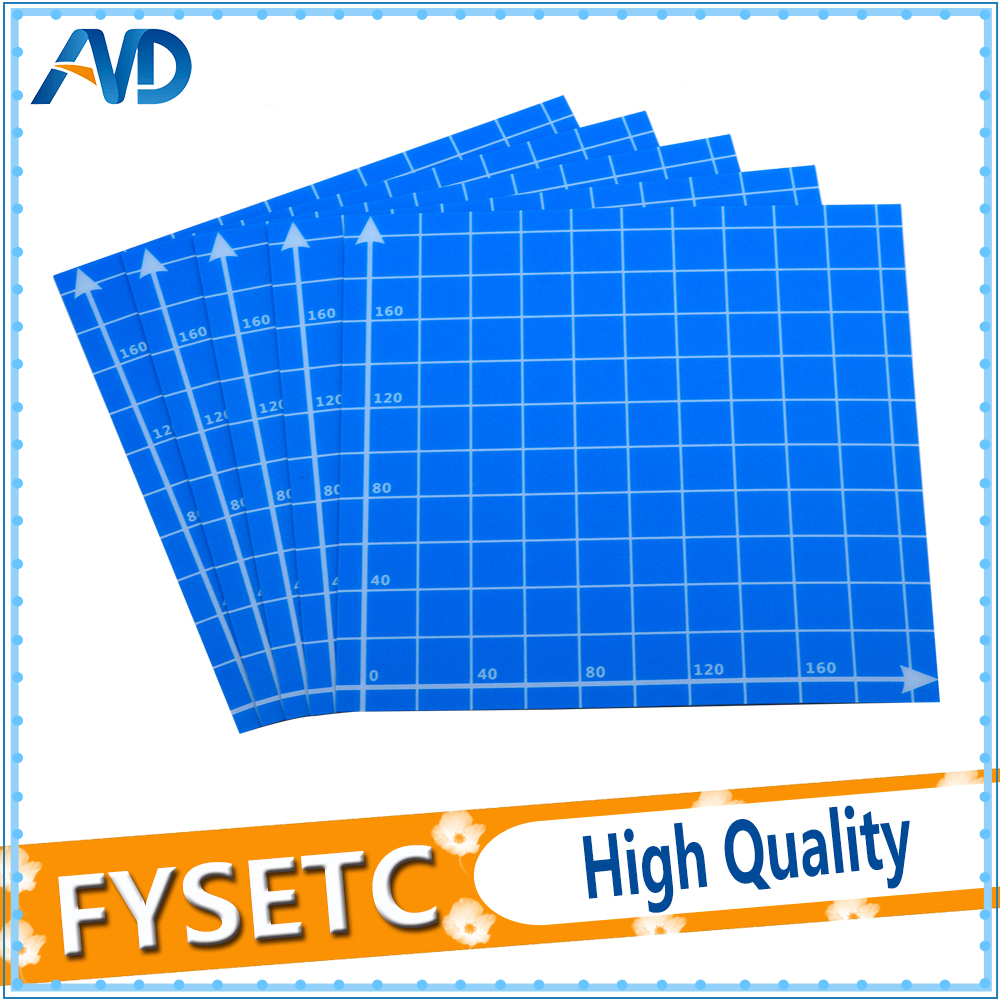 2pc 220x220mm Blue Frosted Heated Bed Sticker Printing Form Build Sheets Grid Build Plate Tape Platform For Anet A6 A8 Ender 5