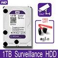 Внутренний жесткий диск WD Purple, 1 ТБ, для системы видеонаблюдения, 3,5 дюйма, 64 Мб кэш-памяти, SATA III, 6 ГБ/сек. 1T, 1000 Гб HDD, жесткий диск HD для видеорег...