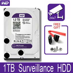 "Image 1 - WD Purple 1TB Surveillance Internal Hard Drive Disk 3.5"" 64M Cache SATA III 6Gb/s 1T 1000GB HDD HD Harddisk for CCTV DVR NVR"