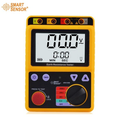 SMART SENSOR AR4105B Digital Earth Ground Resistance Tester Megger Test Meter 4 8 days arrival test line clip for lw2678 earth resistance tester earth resistance meter