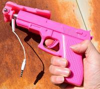 2016 hot sprzedaż pistolet projekt selfie monopod mini samoprzylepnymi wysuwana handheld selfie stick