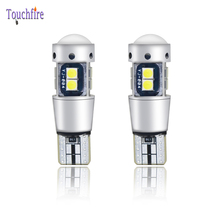 2PCS Auto T10 W5W 194 Canbus LED Car Door Bulb 3030SMD 10LED Dome Clearance License Plate Light 6000K 12-24V For Volkswagen