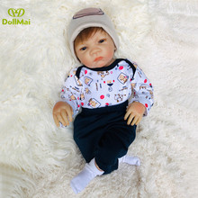 Soft silicone reborn baby dolls lifelike newborn babies boy girl dolls gift for child