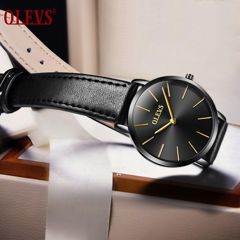 Sieviešu pulkstenis Top zīmols Luxury OLEVS sporta ūdens izturīgs rokas pulksteņa ādas kvarca sieviešu pulkstenis relogio feminino de luxo
