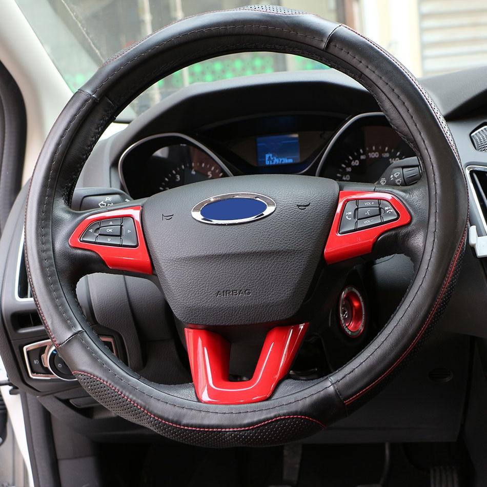 Jameo auto car chrome steering wheel protection cover trim - Ford escape interior accessories ...