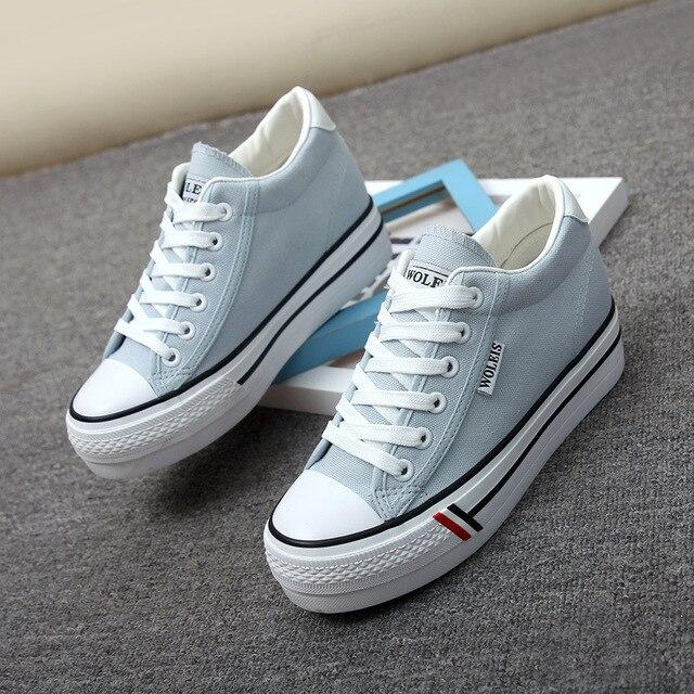 Весна осень джинсы холст обувь женские толстой подошве большего комфорта плоские синие ботинки лоскутное студенток обувь