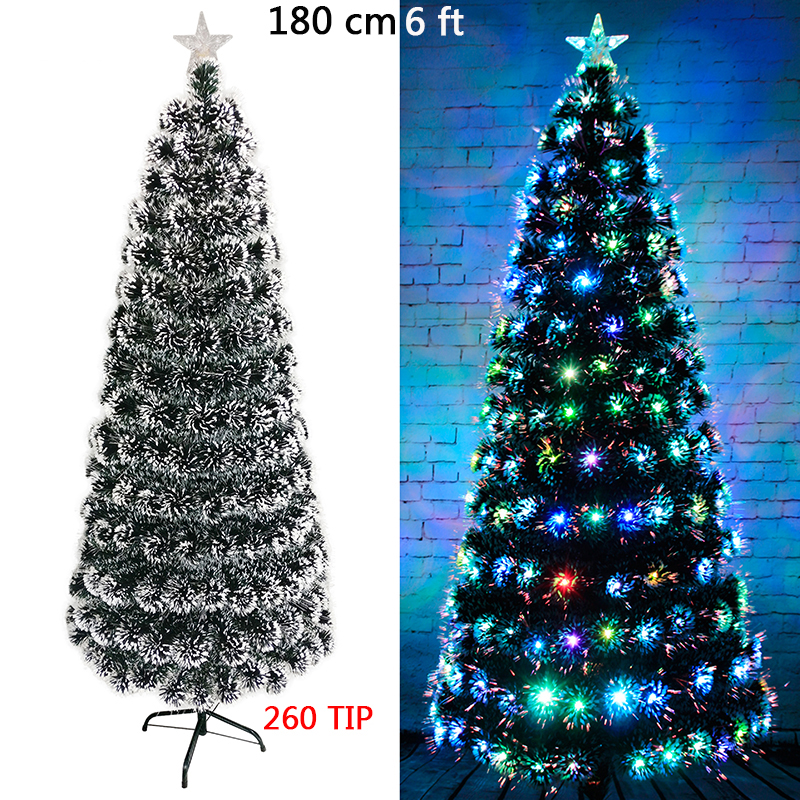 VALORCIELO 4\'/5\'/6\' White Christmas Tree with 145/200/265 Branch Tip ...
