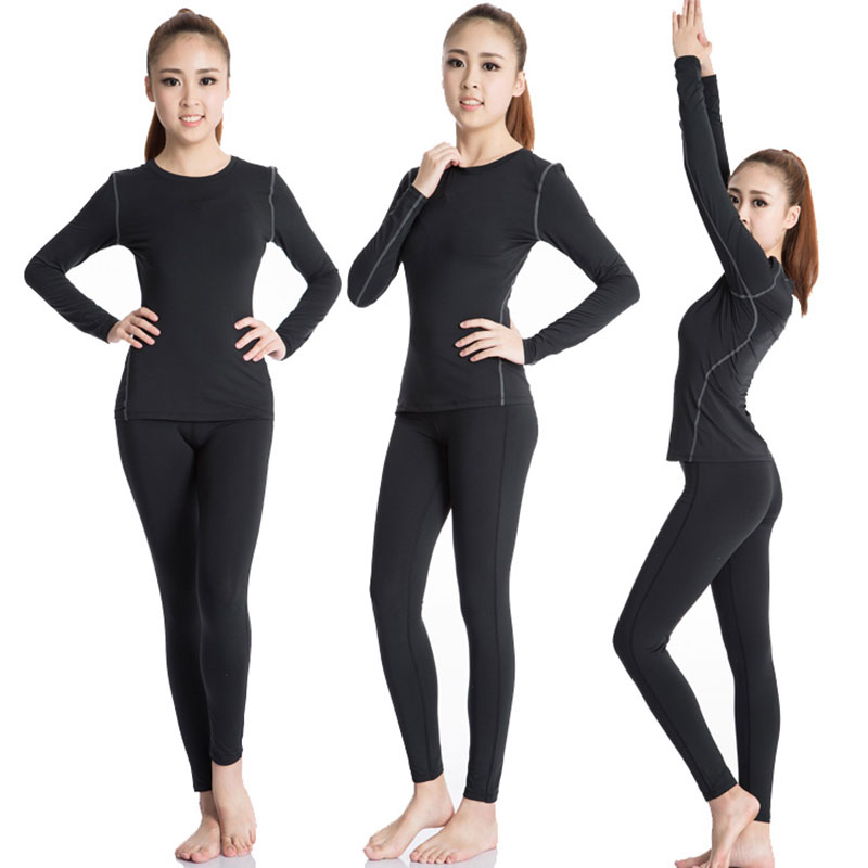New Women's Tracksuits Fitness Clothing for Women Yoga Gym Clothes Long Sleeve Yoga Sets Top Bra and Pants Black Sport Suit women s stylish v neck bat sleeve top loose pants suit for women