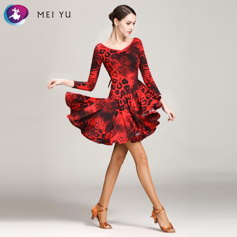 De Goedkoopste Prijs Mei Yu 1843 Latin Dans Kostuum Rumba Samba Cha Cha Dansen Jurk Vrouwen Lady Dancewear Ballroom Kostuum Avond Party Dress Geurige (In) Smaak