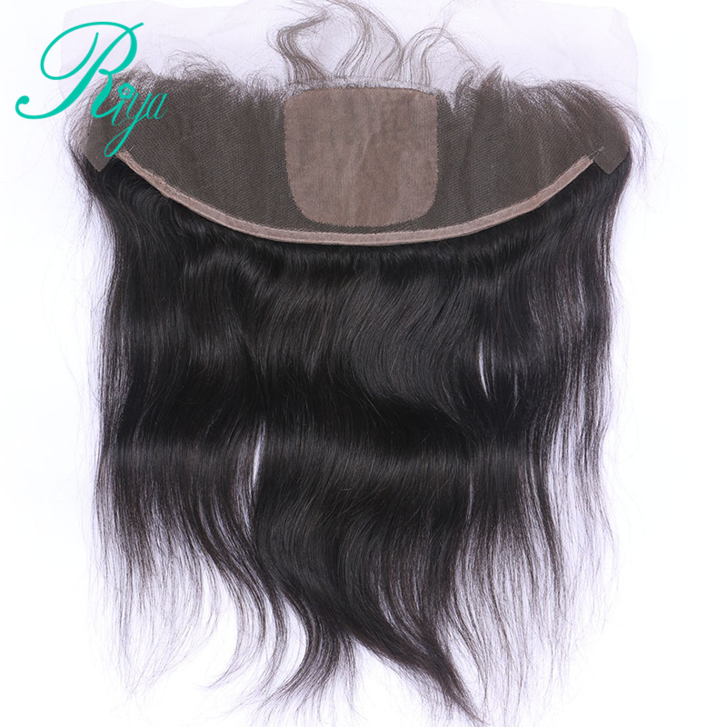 Pre- Plucked Brazilian Straight Hair 13x4 Lace Frontal With 4x4 Silk Base Closure Natural Hairline With Baby Hair 10-20 Inch