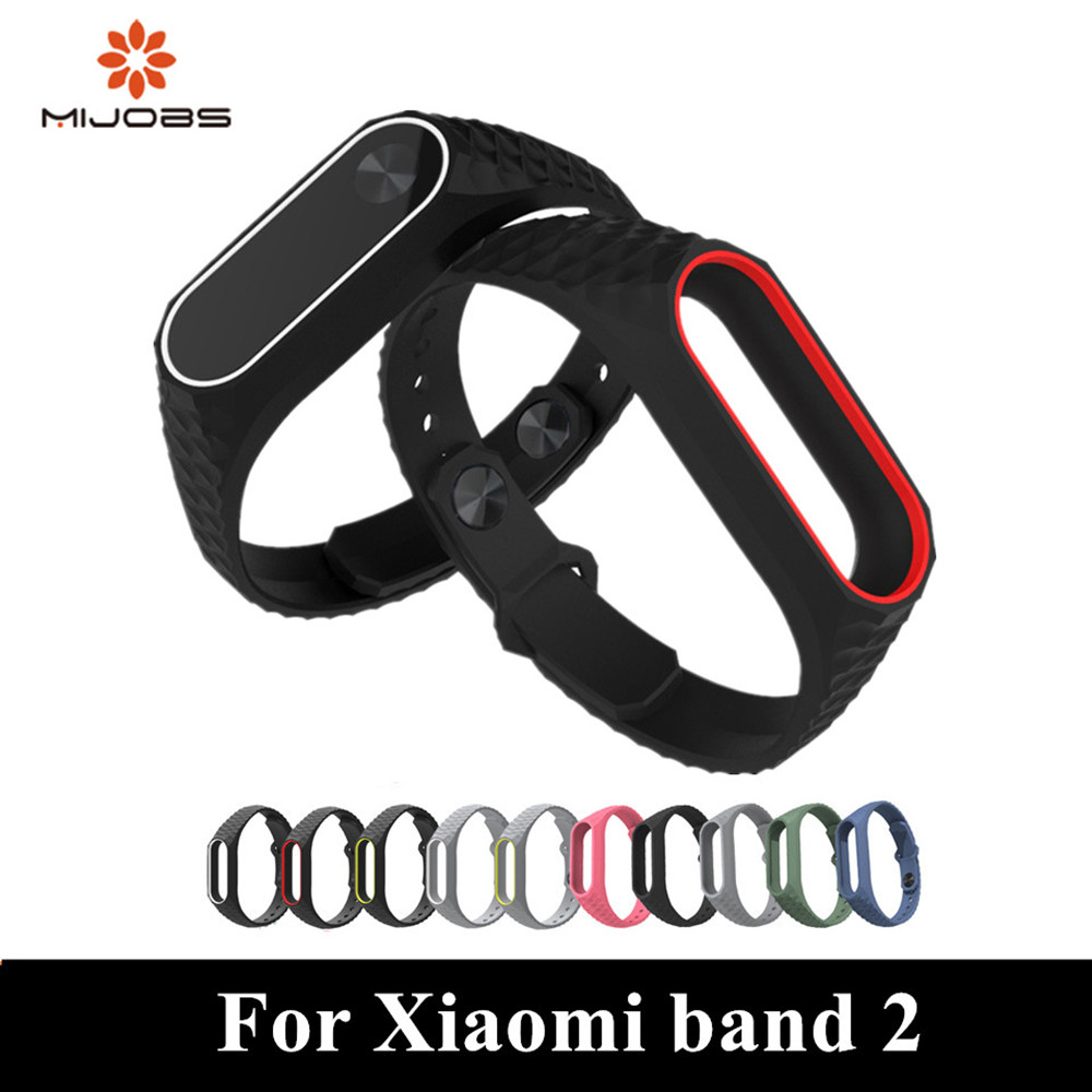 Mijobs mi band 2 strap replace Colorful Silicone Aurora Smart Wristband miband Smart Bracelet Replacement For Xiaomi mi band2 mijobs mi band 2 strap bracelet wrist strap mi band2 smart band strap miband 2 wristband black magnet metal for xiaomi mi band 2
