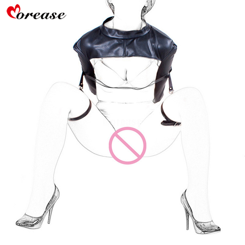 Morease Bdsm Bondage For Women Fetish Slave Restraint Bar Erotic Sex Toys For Couples Adult Game brinquedos sexuais sexo soft leather laced up arm restraint bag inside fetish adult slave game erotic bdsm bondage sex toy for couple