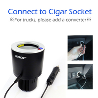 SOAC Mini Fridge 0.34B Car Vehicle Cooling Heating Cup Holder Portable Drink Holder For Car Camping And Travel