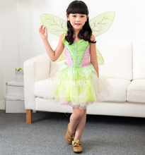 Cosplay Elfin Tinker Bell Young Girl Costume Childrens Wear Evening Dress