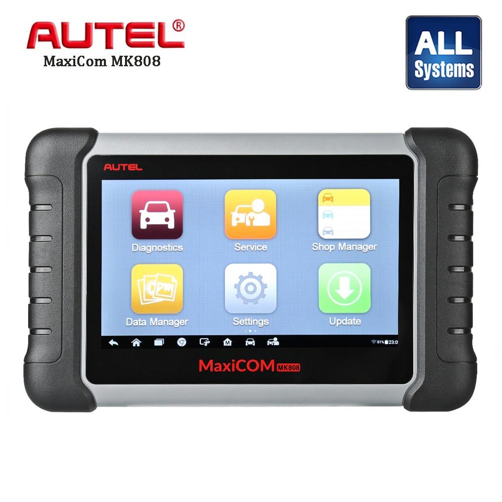 все цены на Autel MaxiCom MK808 Automotive Diagnostic Scan Scanner Car Engine Analysis Tool All System Oil Reset EPB DPF TPMS Key Programmer онлайн