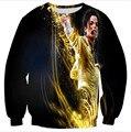 Hip hop hoodies de los hombres/de las mujeres de Michael Jackson impresión 3d con capucha de Moda sudaderas Jumper plus tamaño S-3XL