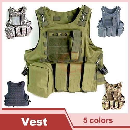 Tactical Vest Molle Combat Strike Plate Carrier Vest Steel Wire Vest Outdoor Military Equipment 1000D HT13 0001