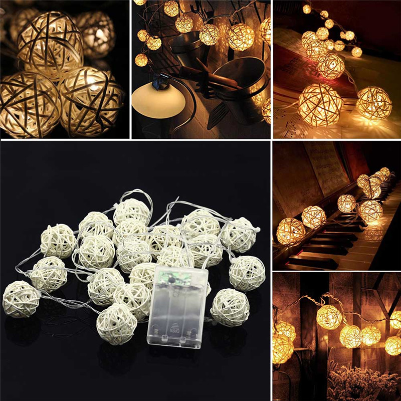 Fashion 20 LED Festoon Light Party Ball string lamp led garland Fairy Lights Christmas wedding pendant garden outdoor decoration цена
